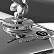 1954 Bentley One Of A Kind Hood Ornament 2 Art Print
