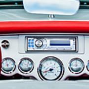 1954 Chevrolet Corvette Dashboard Art Print