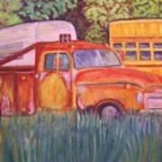 1954 Gmc Wrecker Truck Art Print