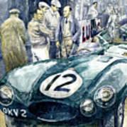 1954 Le Mans 24 Jaguar D Type Short Nose Stirling Moss Peter Walker  Art Print