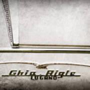 1955 Alfa Romeo 1900 Css Ghia Aigle Cabriolet Grille Emblem - Super Sprint Emblem -2266ac Art Print