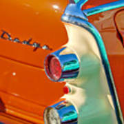 1955 Dodge Coronet Tail Light Emblem -0086c Art Print