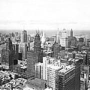 1955 Downtown Chicago Art Print