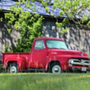 1955 Ford F100 Truck Art Print