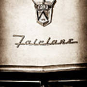 1955 Ford Fairlane Crown Victoria Emblem -1713s Art Print