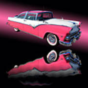 1955 Ford Fairlane Crown Victoria Art Print