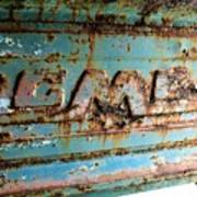 1955 Gmc Truck Tailgate Art Print