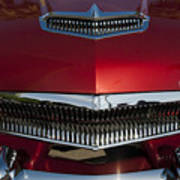 1955 Kaiser Hood Ornament And Grille Art Print