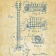 1955 Mccarty Gibson Les Paul Guitar Patent Artwork Vintage Art Print