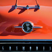 1955 Oldsmobile Rocket 88 Hood Ornament Art Print
