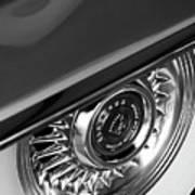 1956 Cadillac Eldorado Wheel Black And White Art Print