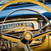 1956 Cadillac Steering Wheel Art Print