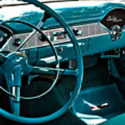 1956 Chevrolet Belair Interior Hdr No 1 Art Print