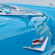 1956 Chevrolet Belair Nomad Hood Ornament Art Print