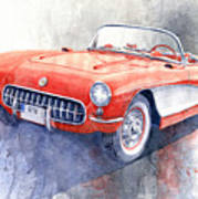 1956 Chevrolet Corvette C1 Art Print