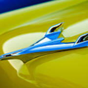 1956 Chevrolet Hood Ornament Art Print