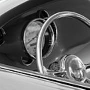 1956 Chrysler Hot Rod Steering Wheel Art Print