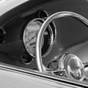 1956 Chrysler Hot Rod Steering Wheel Art Print
