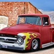 1956 Ford F100 'brickyard' Pickup Art Print
