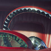 1956 Ford Thunderbird Speedometer - Steering Wheel -0714c Art Print
