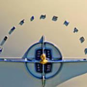 1956 Lincoln Continental Emblem Art Print
