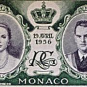 1956 Princess Grace Of Monaco Stamp II Art Print