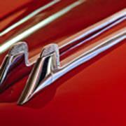 1957 Cadillac Eldorado Biarritz Hood Ornament Art Print