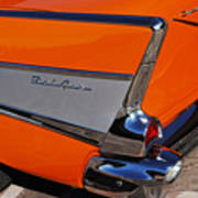 1957 Chevrolet Belair Coupe Tail Fin Art Print