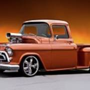 1957 Chevrolet Stepside Pickup L Art Print