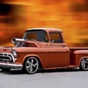 1957 Chevrolet Stepside Pickup Ll Art Print