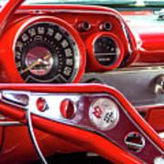 1957 Chevy Bel Air Stering Wheel  Art Print
