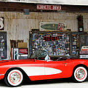 1957 Corvette Hackberry Arizona Art Print