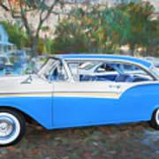 1957 Ford 2 Door Fairlane C130 Art Print