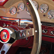1957 Ford Fairlane Steering Wheel Art Print