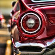 1957 Ford Thunderbird Red Convertible Art Print