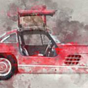 1957 Mercedes Gullwing Art Print