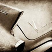 1958 Cadillac Eldorado Biarritz Taillight Emblems -0255s Art Print