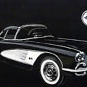 1958 Chev Corvette Art Print
