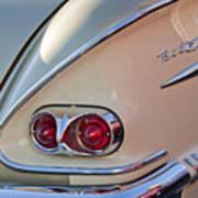 1958 Chevrolet Belair Taillight Art Print