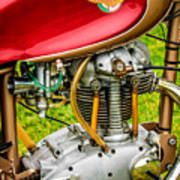 1958 Ducati 175 F3 Race Motorcycle -2119c Art Print