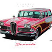 1958 Edsel Bermuda Art Print