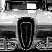 1958 Edsel Pacer Black And White Art Print