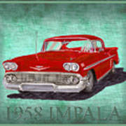 1958 Impala By Chevrolet Art Print