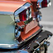 1958 Pontiac Bonneville Taillights Art Print