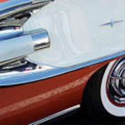 1958 Pontiac Bonneville Wheel Art Print