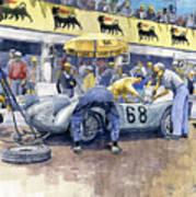 1958 Targa Florio Porsche 718 Rsk Behra Scarlatti 2 Place Art Print
