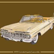 1959 Chevrolet Impala Convertible Art Print