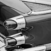 1959 Dodge Custom Royal Super D 500 Taillight -0233bw Art Print