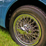 1959 Jaguar X K 150s Wire Wheel Art Print