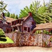 #196 Bourn Cottage Art Print